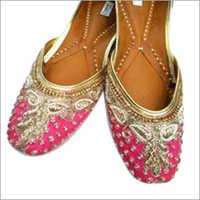Ladies Pink Punjabi Jutti