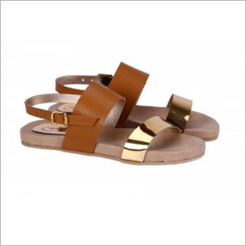 Ladies Plain Brown Sandals