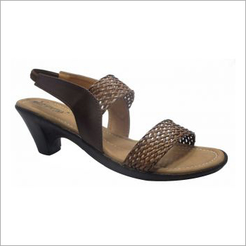 Ladies Brown Mesh Sandals