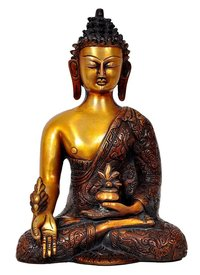 Aesthetic Decors Buddha Dragon W Medicine Pot in Nepali
