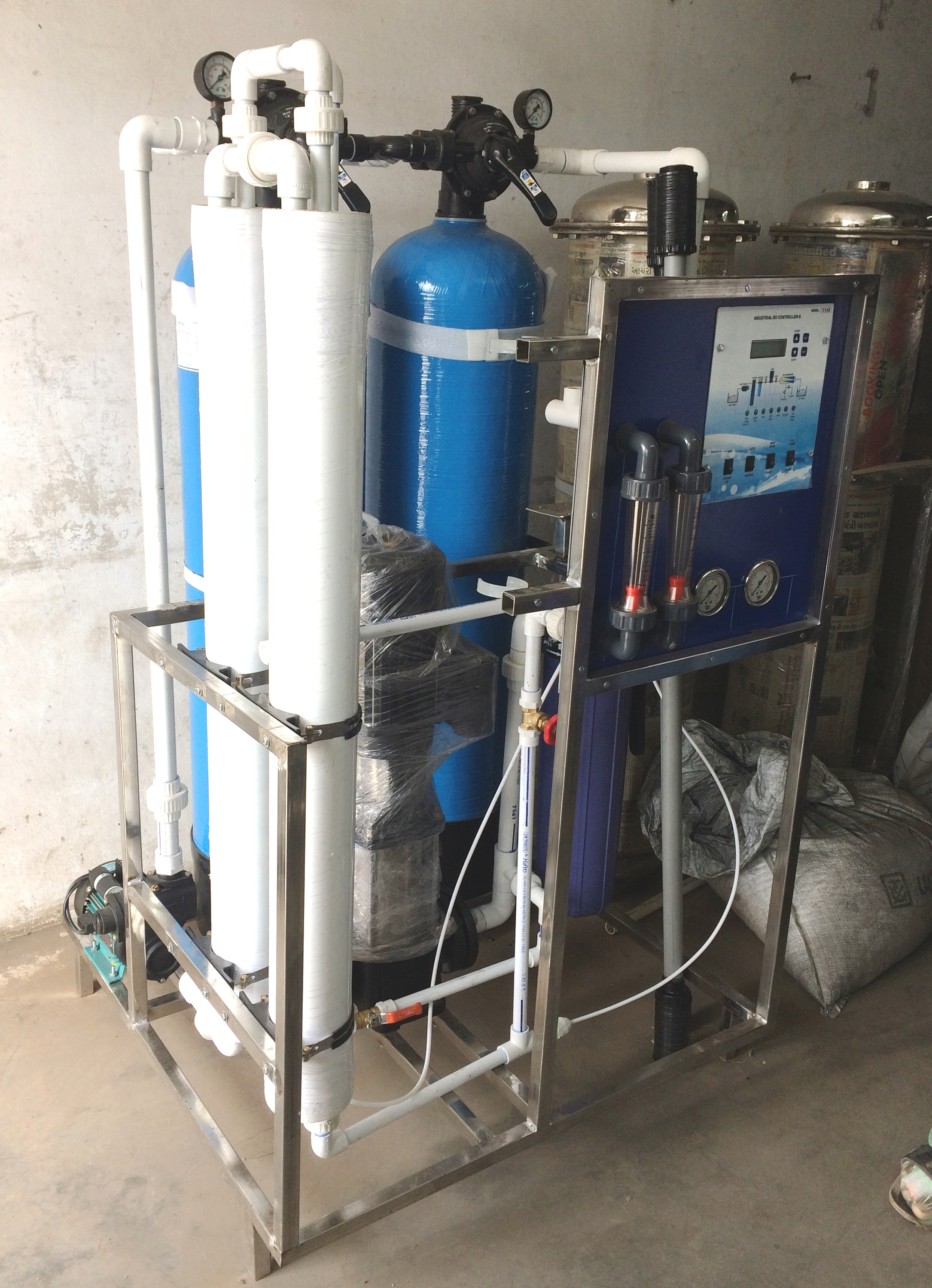Industrial RO Plant 500 LPH for Export