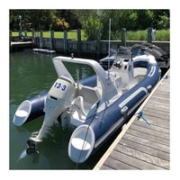 Liya 17ft/5.2m Rigid Hull Inflatable Rib Boat Frp Hull Rescue Sport Boat For Sale