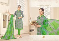 CHANDERI COTTON PRINTED DRESS MATERIALS