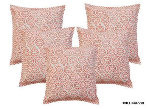 Block Print Cotton Cushion Cover