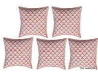 Block Print Handloom Cushion Cover