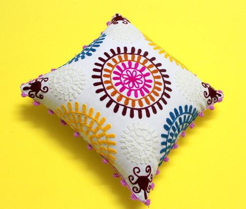 Suzani Embroidered Cushion Cover Set
