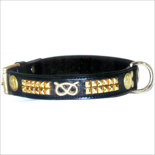 Metal Leather Dog Collars