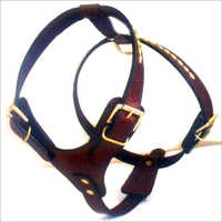 Velvet Leather Dog Harnesses