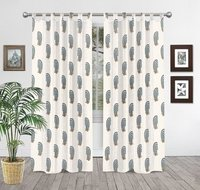 Cotton Block Print Curtain