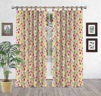 Hand Block Floral Print Curtain
