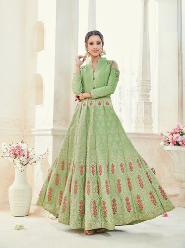 Beautiful Worked Gown Style Suit
