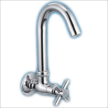 Sink Cock With Swivel Spout