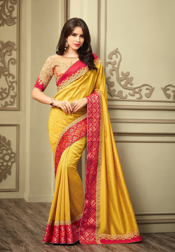 Heavy Party Wear Embroidery Work Saree
