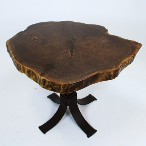 Live Edge Coffee Table With Iron Legs