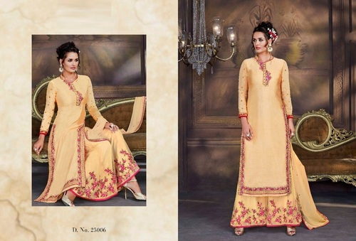 Beautifully Embroidered Silk & Net Combo Suits
