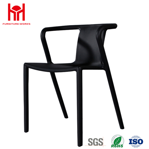 China Wholesale Plastic Chair Leisure Dining Chair With Arm