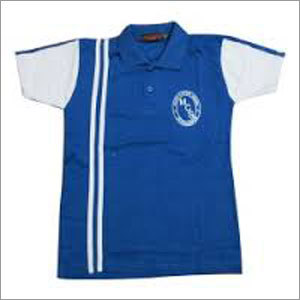 School T-shirt Blue and White