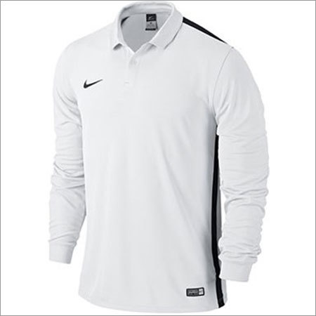 Men's White Full Sleeve T-shirt