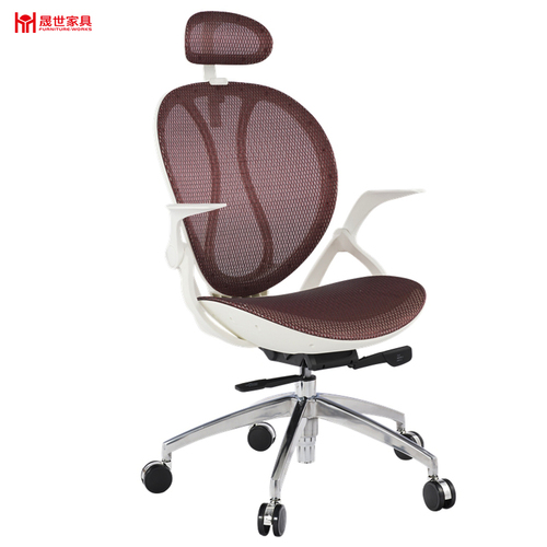 High quality classical leisure red mesh office chair with headrest