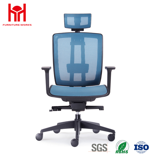 Hot sale high quality latest design blue mesh office chair