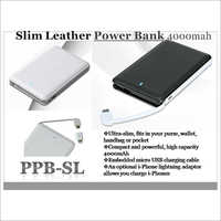 Slim Leather Power Bank