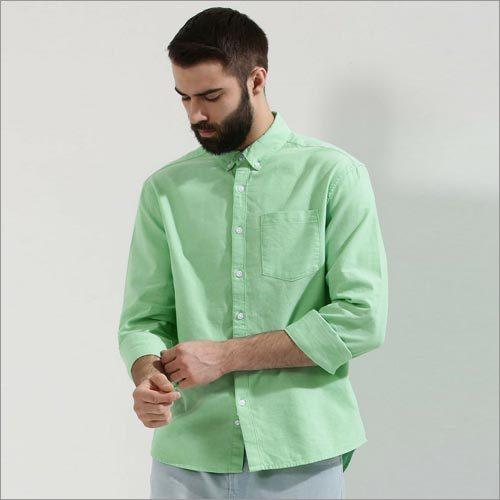 Oxford Full-sleeve Mint Green Shirt