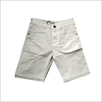 White Ripped Slim Fit Shorts