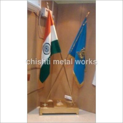 Brass Cross Flag Stand