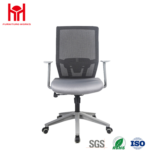 Good quality middle back mesh computer chair with plastic frame