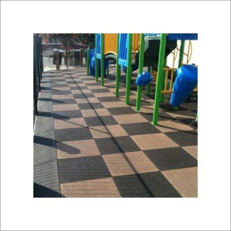 Inter lockable Rubber Tiles