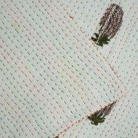 Block Print Cotton Kantha Quilt