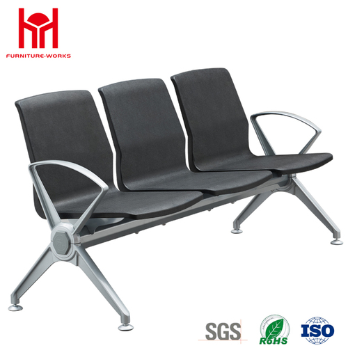 Hot sale high quality 3 Seat PU padded waiting chair for Airport with Aluminum armrest