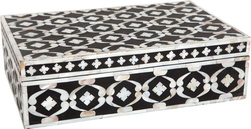 Black,white &Golden MOP Storage Box