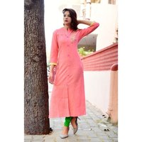Latest Printed Pink Color Kurti