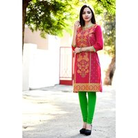 Printed Red Color Kurti