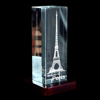 3D Crystal Personalized Corporate Gift (3D-Tower)
