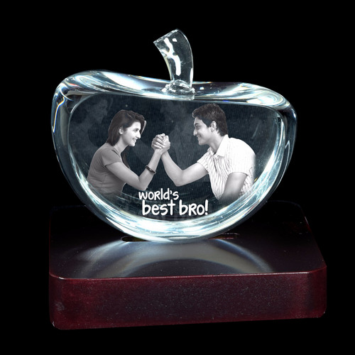 3D Crystal Personalized Gift (3D-Apple-S)