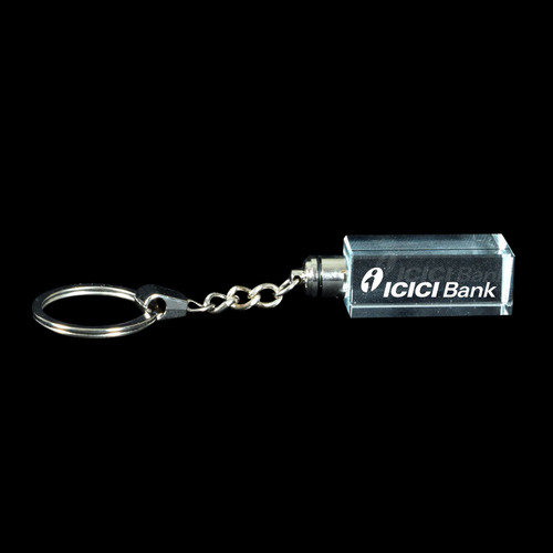3D Crystal Personalized Keyring (3D-KR-1)