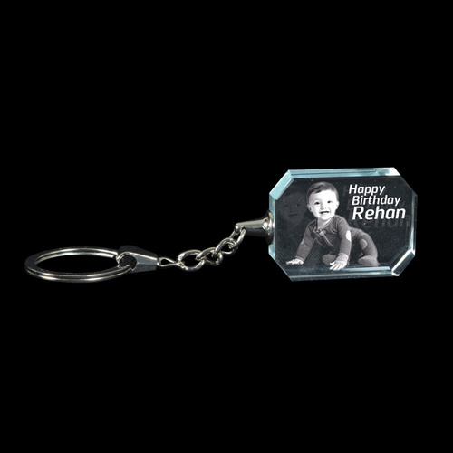 3D Crystal Personalized Keyring (3D-KR-4)