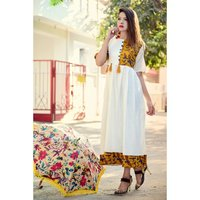 Designer White color Kurti
