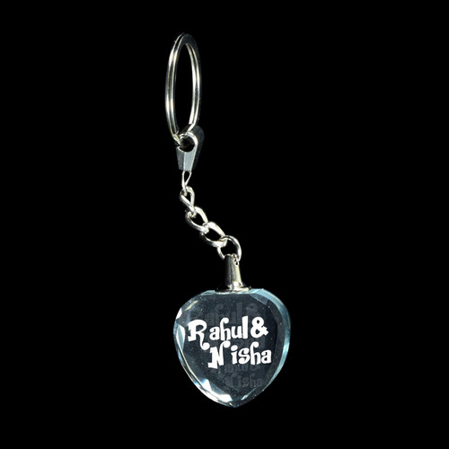 3D Crystal Personalized Keyring (3D-KR-Heart)