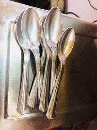 Silver Plastic Spoon