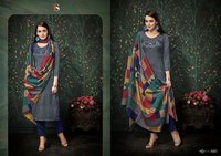 PURE PASHMINA PRINT WITH SELF EMBROIDARY