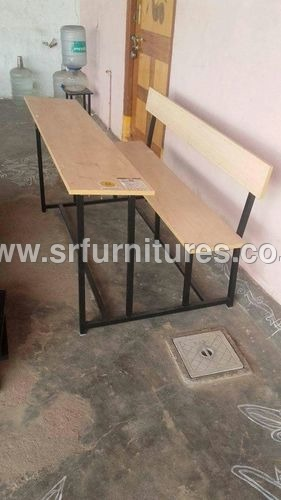4 Students Siting Bench