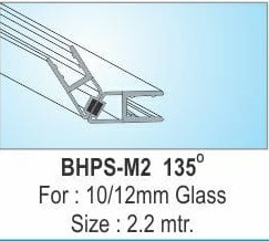 GLASS DOOR MAGNETIC SEAL 135 DEGREE