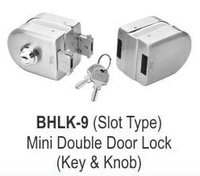 MINI DOUBLE DOOR LOCK (KEY AND KNOB)