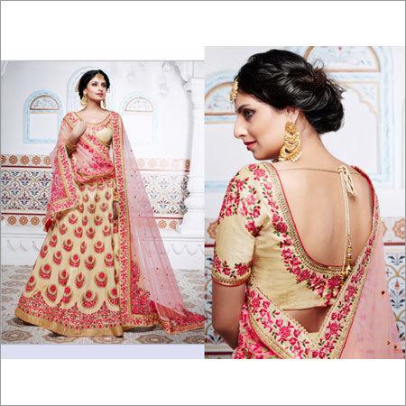 Multi Colour Embroidery Lehenga