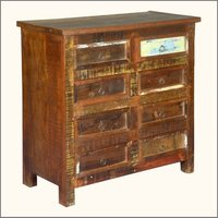 Indian reclaimed wood bed sideboard