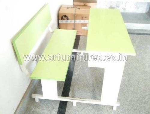 Yellow Dual Desk Bench