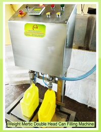 Weight Metric Double Head Bottle Can Filling Machi